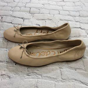 Sam Edelman Tan/Nude  Ballet Flats Leather